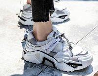 ingrosso tipi scarpe da donna-ragazza di cuoio alla moda scarpe casual donne spessa suola tutti i tipi di sport mesh traspirante scarpe casual papà scarpe da donna stivali Sport Sneake