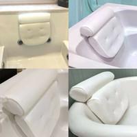 xícaras de sucção de banheira venda por atacado-Banheira Spa Pillow almofada do pescoço Suporte Back Massage Banheira Ventosa Branco
