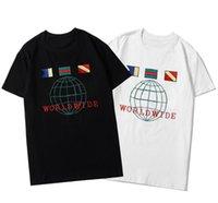 kadınlar beyaz tişörtler toptan satış-Erkek Kadın Tshirts için 20SS YENİ Tasarımcı T Gömlek Mektupları ile Yaz Beyaz Siyah Erkekler Tee Gömlek Casual Bayan Giyim S-2XL Toptan Tops