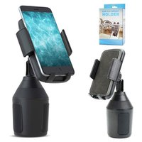 Wholesale car phone cup holder resale online - Cup Holder Phone Mount Universal Rotating Adjustable Cup Holder Cradle Car Mount Stand holders for samsung s10 s9 s8 plus Note