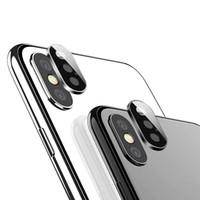 ingrosso pellicola protettiva per lenti-Custodia protettiva per obiettivo fotocamera posteriore per iPhone 11 Pro XS Max XR X Ring Custodia posteriore in metallo in vetro temperato