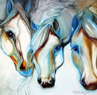 Wholesale wild decor resale online - Decor Art wild horses in abstract marcia baldwin Home Decor Handpainted HD Print Oil Painting On Canvas Wall Art Canvas Pictures