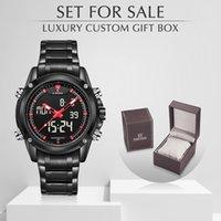 Wholesale sports watches for sale resale online - NAVIFORCE Luxury Brand Quartz Men Watch Military Sports Waterproof Men s Watches With Box Set For Sale Relogio Masculino