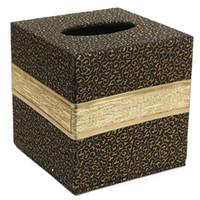 ingrosso rivestimento in pelle in scatola tovagliolo-Cuoio cremagliera del tovagliolo di carta Albergo durevole copertura di immagazzinaggio Piazza Contenitore Home Box Tissue Box Car