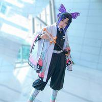 Wholesale japanese party supplies for sale - Group buy Kochou Shinobu cosplay costumes Japanese anime Kimetsu no Yaiba clothing Halloween Party cosplay costumes Spot supply