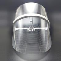 tratamento de remoção de acne venda por atacado-LED Beleza Máscara Facial 3 Cores de Toque de Luz Terapia Terapia Instrumento SPA Tratamento Dispositivo Anti Remoção de Rugas da Acne