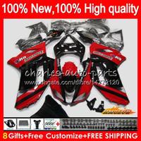 Bodys 8gifts For Kawasaki Zx 6r 6 R 600cc Zx636 07 08 34hc3 Zx 636 Zx600 600 Zx6r 07 08 Zx 636 Zx 6r New Sale Red 2007 2008 Fairing Kit