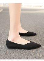 kutu takibi toptan satış-Bahar tek yeni bayan ayakkabıları yuvarlak kafa sığ ağız rahat seti ayak düşük topuk rahat düz tatlı tek ayakkabı kadın TCOO