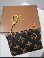 kadın deri fermuarlı cüzdanlar toptan satış-Moda Tasarımcısı Debriyaj Kadın Çanta Marka Anahtar Kılıfı Zip Cüzdan Sikke Deri Cüzdan Kadın Tasarımcı Çanta Cüzdan Kutusu Ile 62650