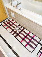 douche style classique achat en gros de-Classics Grille Tapis Simple Salle de bain Décoration Mode Cheval Logos Nouvelle douche Cuisine Buvards antidérapante Mat Chambre