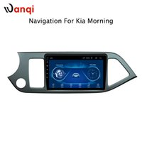 Wholesale car audio dvd system resale online - 9 inch factory android car dvd player For KIA morning picanto with audio radio multimedia gps navigation system