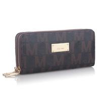 Wholesale purse resale online - Women Luxury Long Wallet Brand Letter Coin Purse Ladies Double Zipper PU leather Designer Wallets Clutch Money bag Card Holder Pocket B61303