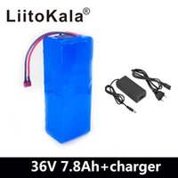 Wholesale battery pcb resale online - LiitoKala V Ah S3P Rechargeable battery pack modified Bicycles electric vehicle V Protection PCB A Charger
