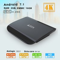 android tv kutusu octa çekirdeği 2gb toptan satış-A95X 2GB 16GB Amlogic S912 Octa Çekirdek Android 7.1 TV Box 2.4G 5.8G WIFI 1000M Lan Media Player