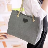 магазин для мобильных телефонов оптовых-Дамы холст большая сумка на плечо простые сумки для покупок женские повседневные сумки слинг мобильная сумка
