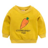 5d22be03afec43 Vestiti del capretto Arrivo Neonate Felpe Primavera Autunno Maniche lunghe  Maglione Per bambini Vestiti ravanello giallo