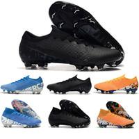 cr7 sapatos pretos venda por atacado-Mercurial Superfly 13 Triplo Preto Chuteiras Mens Trainers CR7 Neymar VI 360 Football Botas Scarpe Da Calcio Indoor Sports Sapatilhas