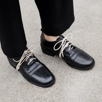 Wholesale oxford style shoes for women resale online - Retro Oxfords Genuine Leather Woman Oxford Shoes British Style Vintage Soft Leather Flat Shoes Casual Oxford for Women as160