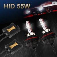 h11 h9 h7 bulb venda por atacado-55W HID Xenon Farol Conversion Kit lâmpadas H7 H10 / 9005 H8 / H9 / H11 9006 8000K US