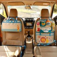ingrosso appendini di viaggio pieghevoli-Cartone animato auto seggiolino auto organizzatore supporto pieghevole multifunzionale borsa da viaggio custodia prodotto per neonati riordino sedile posteriore per auto scatola organizzatore