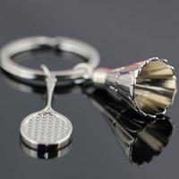 винтажный бадминтон оптовых-2017 High Quality Beauty  Classical Vogue Gift New Badminton Key Chain Charm Casual Novelty Vintage