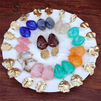 Wholesale acrylic earrings patterns resale online - New Colorful Acetate Geometric Irregular Exaggerated Acrylic Dangle Earrings for Women Marble Pattern Resin Earrings Fashion Jewelry Gift