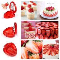 fraise achat en gros de-Fraise Trancheuse Fruits Légumes Outils Sculpture Gâteau Décoratif Cutter Cuisine Gadgets Accessoires Fruits Sculptant Couteau Cutter T2I5155