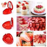 Wholesale strawberry cutter resale online - Strawberry Slicer Fruit Vegetable Tools Carving Cake Decorative Cutter Kitchen Gadgets Accessories Fruit Carving Knife Cutter T2I5155