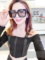 large framed polarized sunglasses women toptan satış-Marka tasarımcı güneş gözlüğü lüks polarize güneş gözlüğü erkekler ve kadınlar için moda kare DG büyük çerçeve güneş gözlüğü komple paket