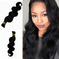 Wholesale best body waves for hair online - Best Selling Products Body Wave Bulk Hair For Braiding No Weft Natural Color Indian Human Hair Extensions G EASY