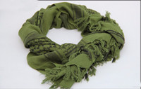 Wholesale military shemagh tactical scarves for sale - Group buy 100 Cotton Thick Muslim Hijab Shemagh Tactical Desert Arabic Scarf Arab Scarves Men Winter Military Windproof Scarf