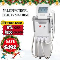 yag haarentfernungs-lasersystem großhandel-Multifunktions-OPT CLicht SHR IPL Haarentfernung Nd-Yag Laser Tattoo Removal System RF Hautverjüngung Maschine
