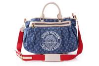 mode schultertasche für damen großhandel-19ss neue klassische Marke Medusa Damen Mode Denim Nähen lässig Handtasche gut aussehende weibliche Schulter Umhängetasche Brieftasche