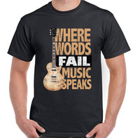 rocking electric guitar al por mayor-Music Speaks Mens Funny Guitar T-Shirt Bass acústico eléctrico Rock n Roll Band