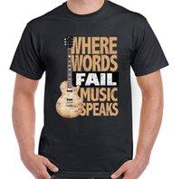 rocking electric guitar großhandel-Musik spricht das lustige Gitarren-T-Shirt der Männer