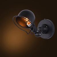 schwarze vintage wandleuchten großhandel-Vintage Edison Wandlampe industrielle mechanische Arm Frankreich Jielde Wandlampe Reminisce einziehbare schwarz weiße Wandleuchten