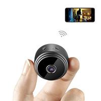 detecção de segurança venda por atacado-A9 HD 1080 P Mini Câmeras Sem Fio Wi-fi Câmera de Segurança Monitoramento Remoto de Visão Noturna Gravador de Micro IP P2P de Vigilância de Detecção de Movimento DV