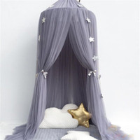 Wholesale cotton lace home decor resale online - 7 Colors Hanging Kids Baby Bedding Dome Bed Canopy Cotton Mosquito Net Bedcover Curtain For Baby Kids Reading Playing Home Decor
