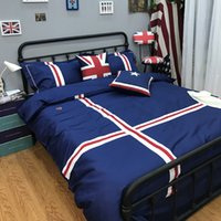 Wholesale bedding fashion bedsheet for sale - Group buy Fashion British College Style Cotton Three piece four piece Bedding Sets for Children and Students Duvet Cover Bedsheet
