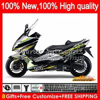 Wholesale max line for sale – best Body For YAMAHA T MAX500 TMAX MAX T MAX500 HC TMAX500 TMAX XP500 MAX Fairing yellow line