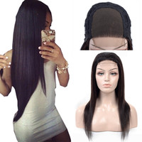 Wholesale 4x4 Closure Wigs for Black Women Density Human Hair Straight Lace Wigs Natural Black Color Cheap Peruvian Wig Remy Hair
