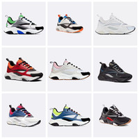 sapatos de plataforma atados top baixo venda por atacado-B22 Sneaker Homens Designer de Calçados Casuais Mulheres Retro Sneaker Low Top Lace-Up Plataforma B22 Sneaker Luxo Multicolor Sapato Casual Com Caixa