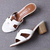sapatos de borracha cáqui venda por atacado-Moda de cristal PU mulheres chinelos 2019 verão primavera borracha feminina ao ar livre deslizamento em sapatos senhoras slides sandálias vermelho