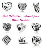 teteras de halloween al por mayor-Mejor precio !! 50pcs Heart Spirits Best Mom Family Teapot Mouse Silver Charm Beads Se adapta al estilo europeo de Pandora Pulseras de joyería Collar