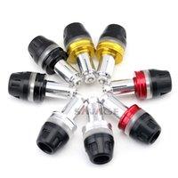ingrosso grip in alluminio-Tappi per manubri per DUCATI MONSTER 696 796 797 821 1100 / S / R Manopole per manopole Tappi per slitte Moto acrilico + alluminio
