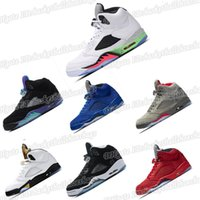 Wholesale silver shoes online for sale - Group buy 5 Shoes Sneaker Trainer Man Basketball s Olympic Metallic Gold Cementwholesale Og Black Metallic Red Blue V Outdoor Trainers Online Sale Pe
