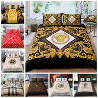ingrosso copripiumini-Alla moda Bedding Set King Size High End Copripiumino 3D classico di lusso regina Doppia completa Double Single copertina Comfortable Bed