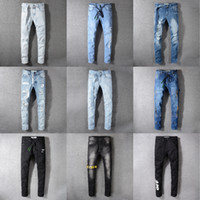 hommes mode jeans usa achat en gros de-Style américain USA OFF Jeans Marque Slim Jeans Casual Hommes Grande Taille Coton Qualité Hommes Mode Nouveau Jeans Blancs Crayon Pantalon
