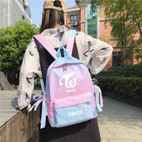 ingrosso polvere coreana-Nuovo zainetto kpop Twice Coreano Star Powder blu sfumato per ragazze adolescenti kpop Sana fashion backpack travel