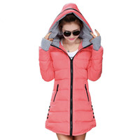 Wholesale plus size down quilted jackets for sale - Group buy 12 Colors Women Plus Size Female Hoodie Hooded Autumn Winter Long Sleeve Down Parka Slim Casual Quilted Chaquetas Jacket Coat
